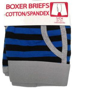 5/$25 Men's M 32 - 34 boxer briefs stripes gray